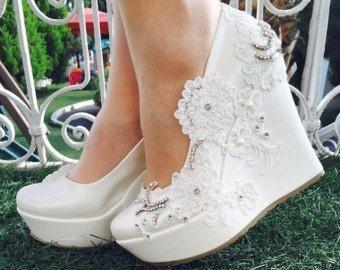کفش عروس لژدار (پاشنه مبلی)
