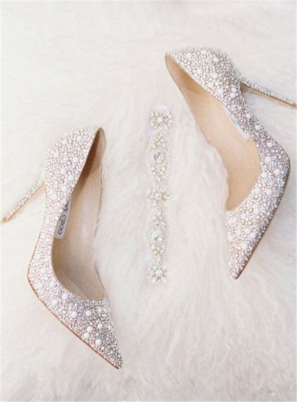 مدل کفش عروس نگینی