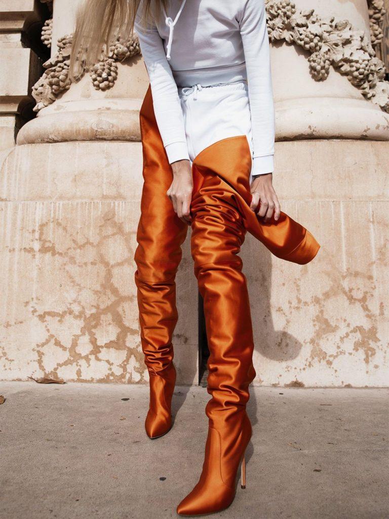 چکمه جورابی زنانه فانتزی