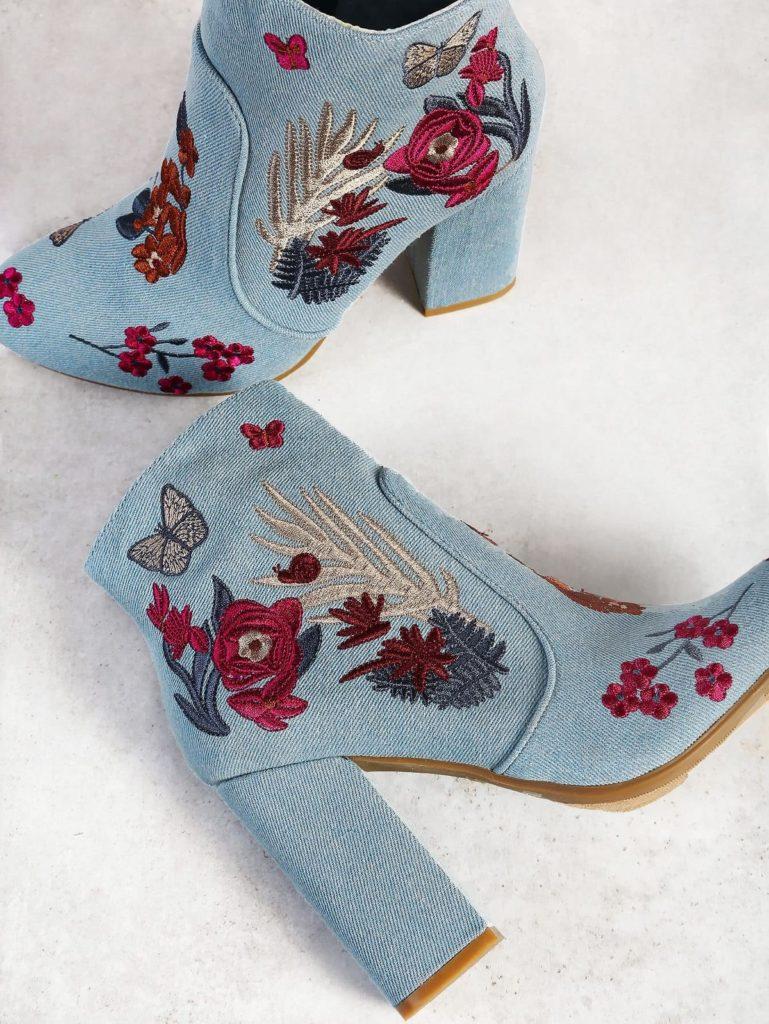 کفش زمستانه گلدوزی