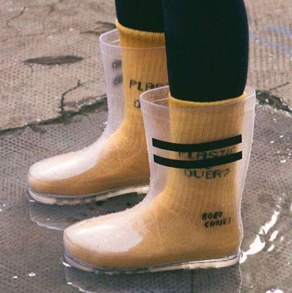 کفش زمستانه شفاف