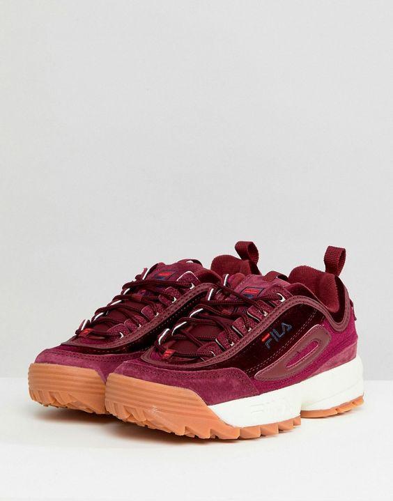 کفش مخمل fila