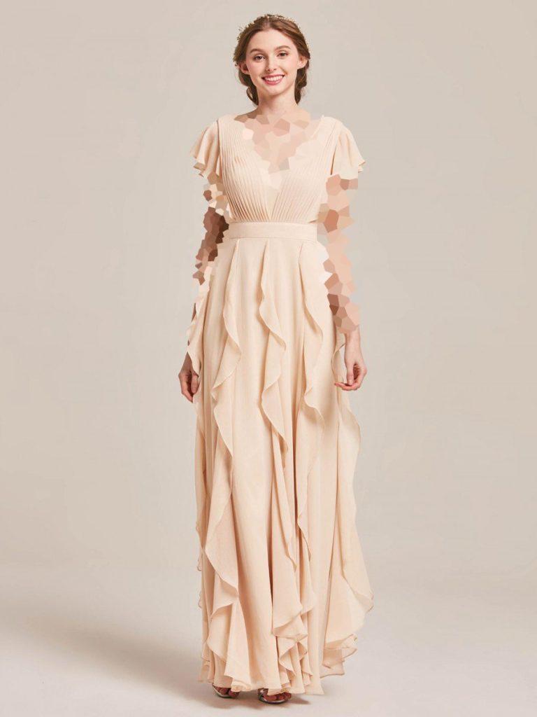 مدل آستین کوتاه لباس مجلسی