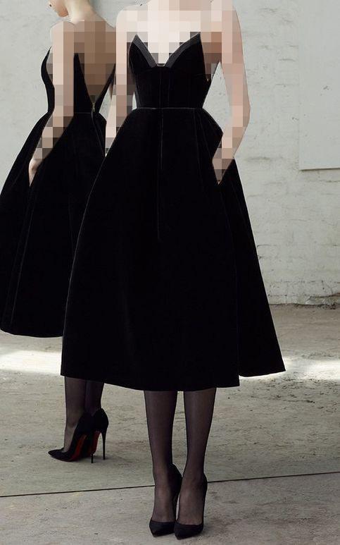 لباس مجلسی مخمل مدل A line