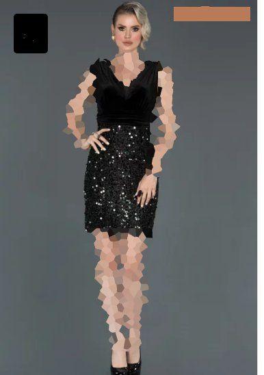 مدل لباس مجلسی مخمل پولکی