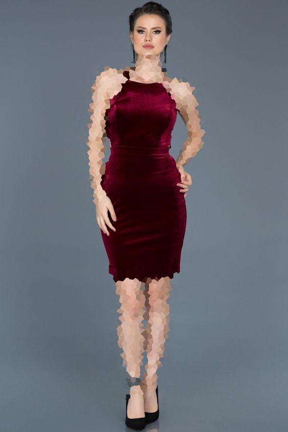 مدل لباس مجلسی مخمل یقه هالتری