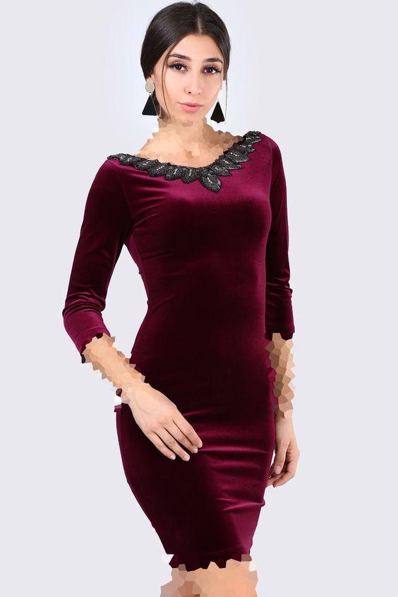 مدل لباس مجلسی مخمل سنگ دوزی شده
