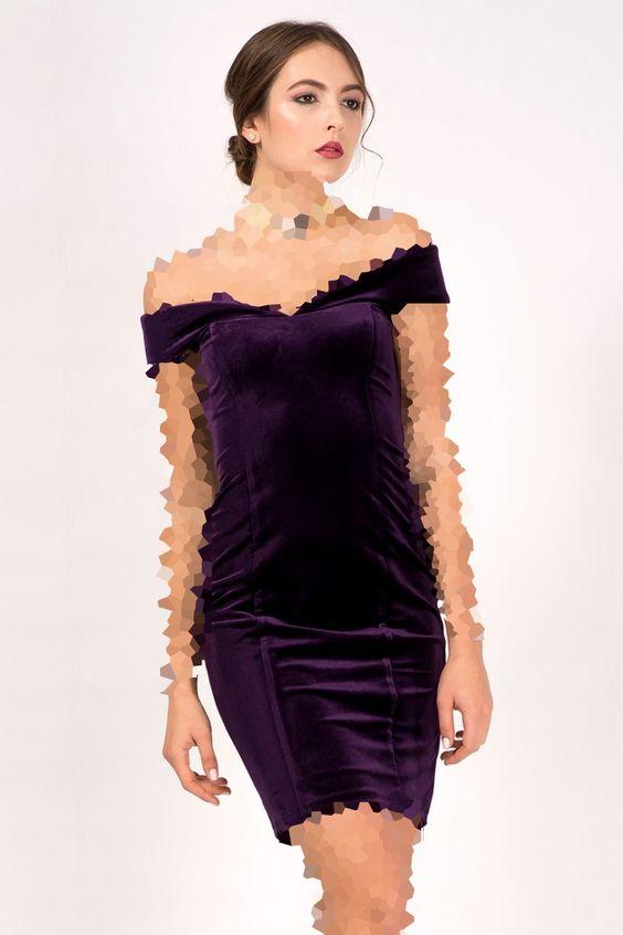 مدل لباس مجلسی مخمل یقه دلبری