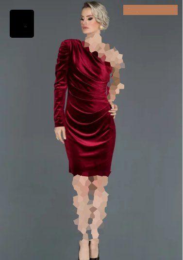 لباس مجلسی مخمل یقه رومی