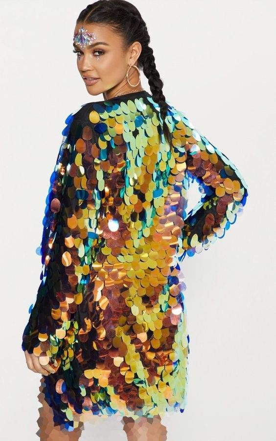 لباس مجلسی پولکی