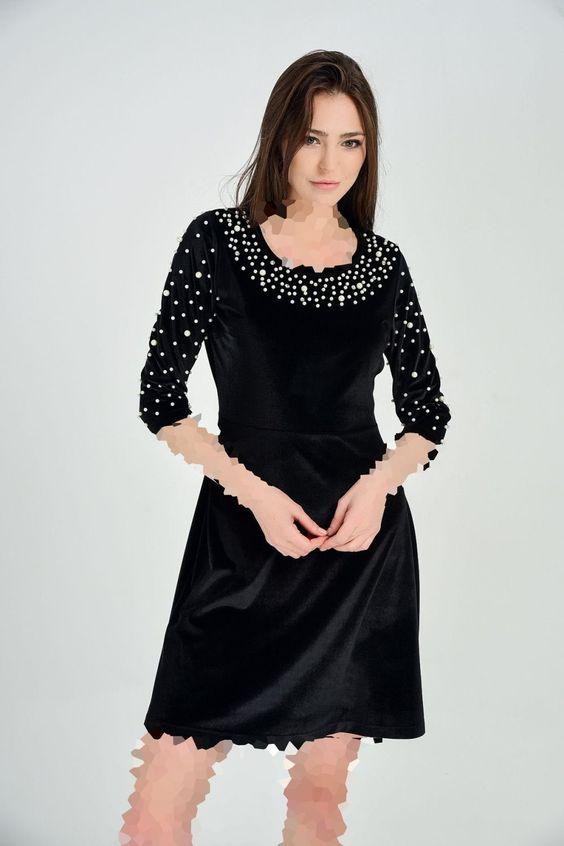 لباس مجلسی مخمل مروارید دوز