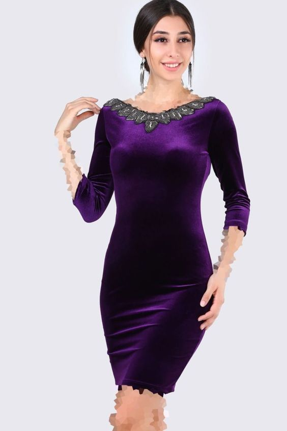 لباس مجلسی مخمل سنگ دوزی