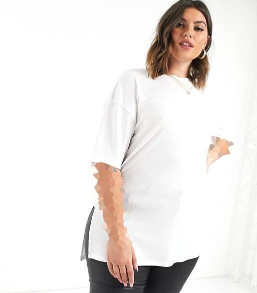 تیشرت کلاسیک سفید زنانه و دخترانه