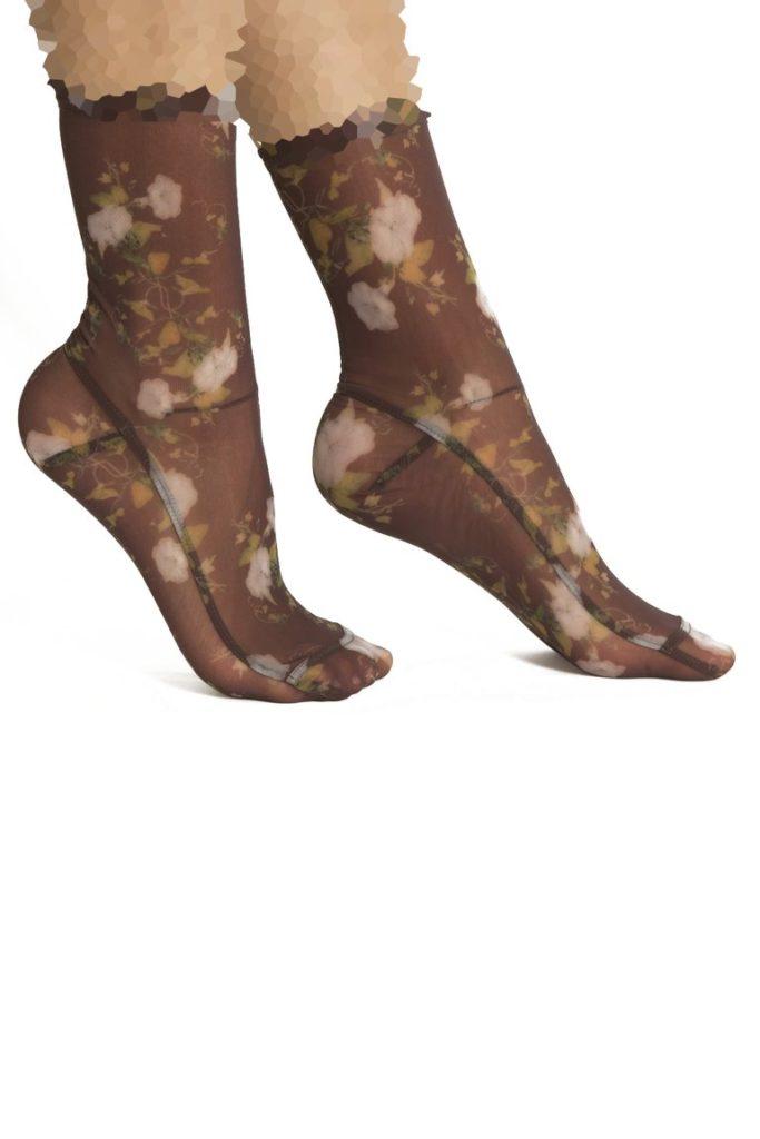 جوراب شیشه ای طرحدار