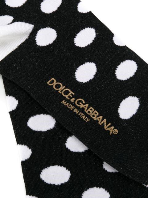 جوراب خالخالی سیاه و سفید