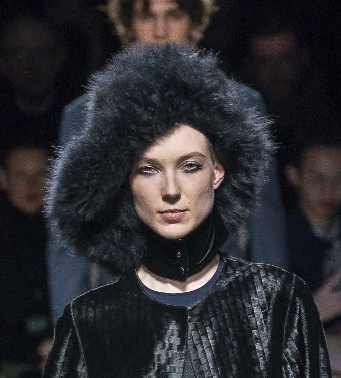 مدل جدید کلاه خزدار برند Giorgio Armani