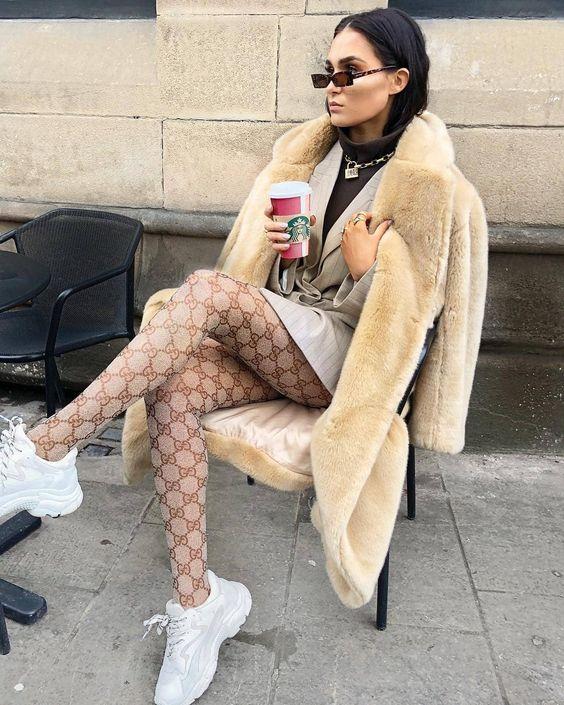 مدل جدید جوراب شلواری پترن دار