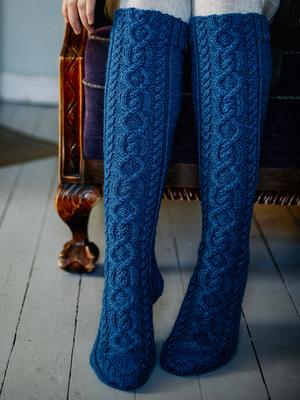 پاپوش ساق بلند کاموایی