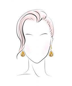 گوشواره مناسب برای صورت های بیضی شکل