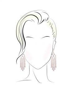 گوشواره مناسب برای صورت های قلبی شکل