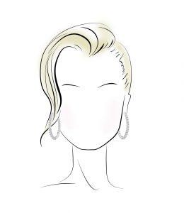 گوشواره مناسب برای صورت های مربعی شکل