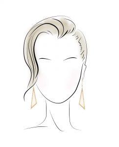 گوشواره مناسب برای صورت های گرد