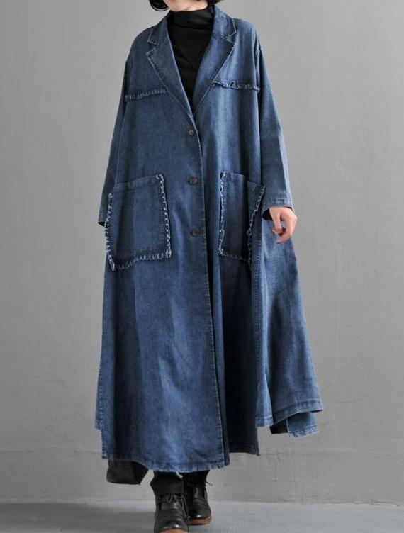 مانتو جدید جین دکمه دار