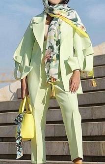 استایل مونوکروم (سرتا پا یک رنگ) : مدل جدید مانتو 2019 - 1398