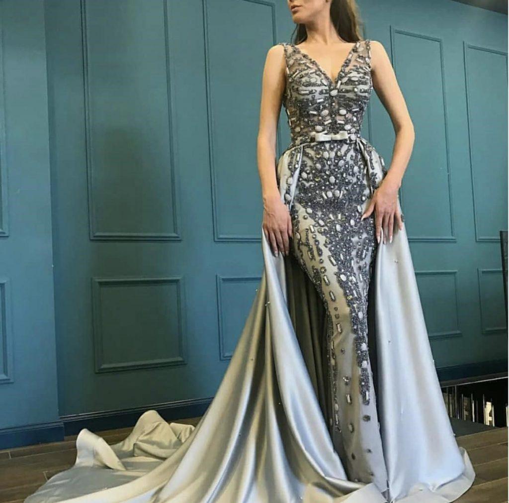 لباس مجلسی ترکیه ای مدل دو دامن (مد جدید 2019)
