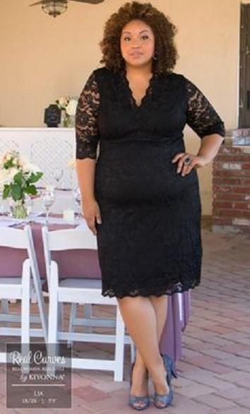 لباس مجلسی برای افراد چاق
