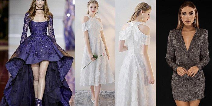 انواع مدل های لباس مجلسی کوتاه 2019 + عکس و تصویر