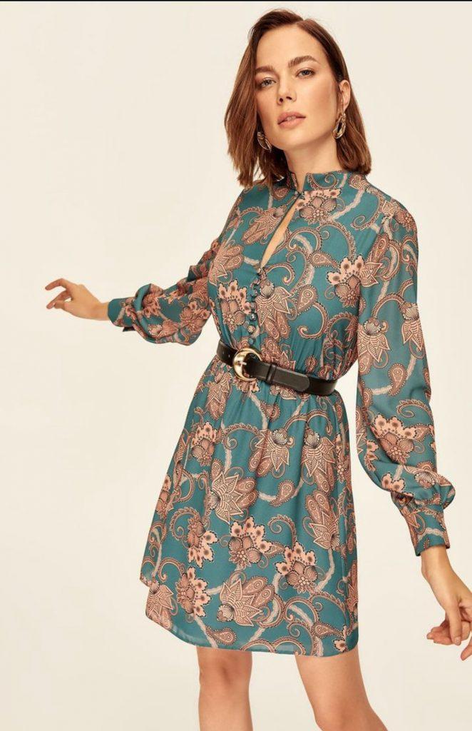 مدل لباس مجلسی کوتاه با پارچه های اسکارف
