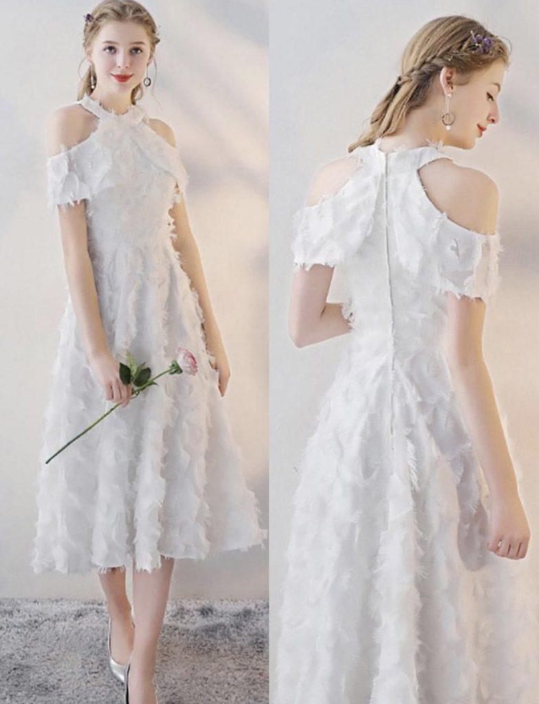 مدل لباس مجلسی با شانههای افتاده