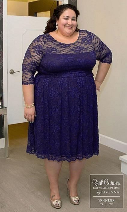 لباس مجلسی برای خانم های خیلی چاق