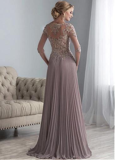 مدل لباس مجلسی گیپور رنگ بژ