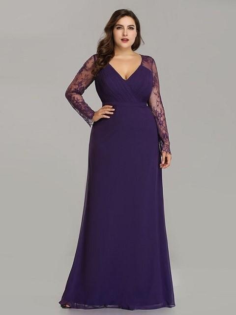 مدل لباس مجلسی گیپور رنگ بنفش