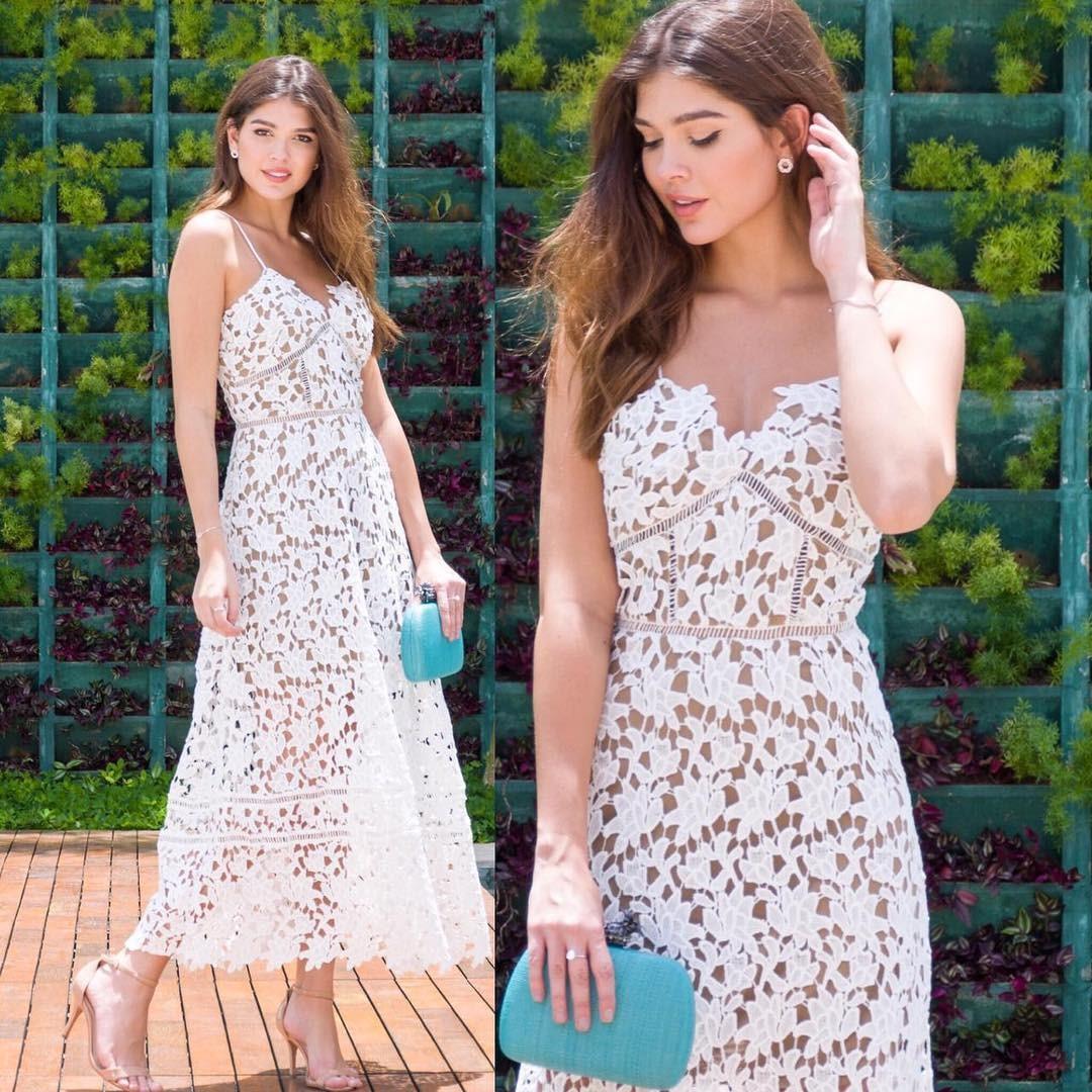 مدل لباس مجلسی گیپور رنگ سفید