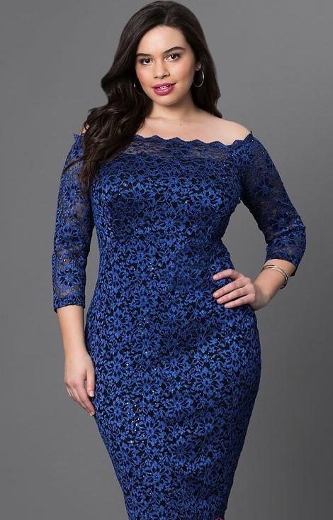 مدل لباس مجلسی گیپور رنگ آبی