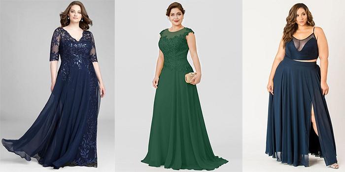 لباس مجلسی برای خانم های چاق