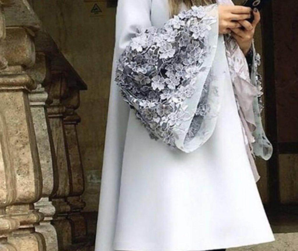 مدل لباس مجلسی با آستین کلوش