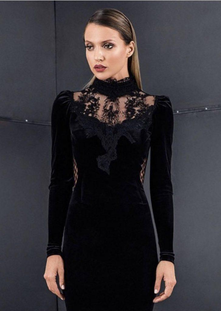 مدل لباس مجلسی با یقه ایستاده