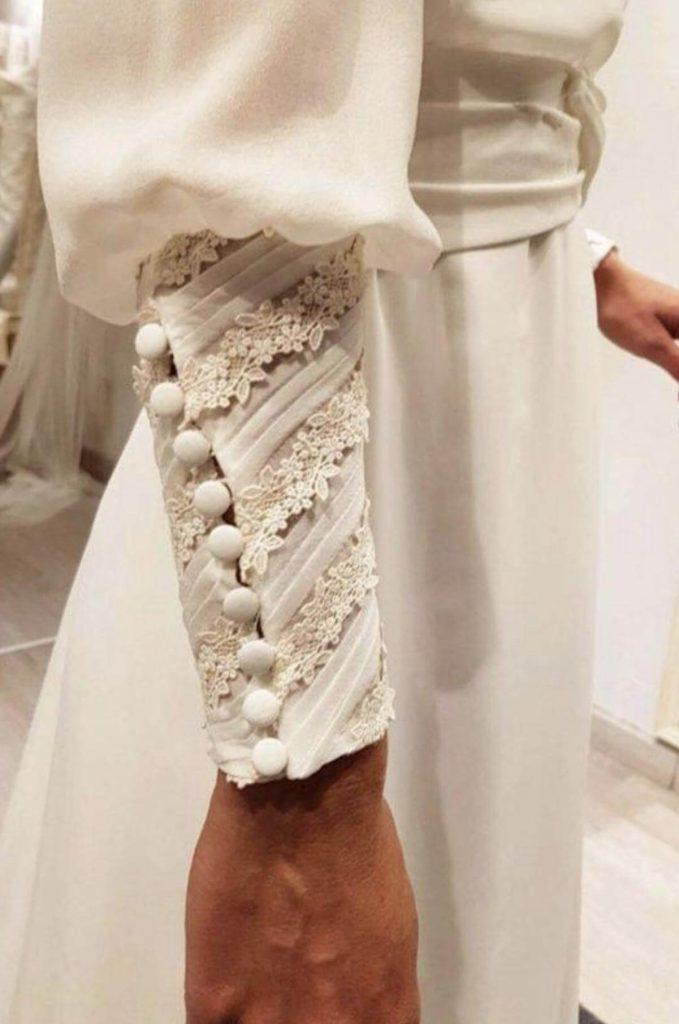 مدل لباس مجلسی با آستین های مچ دار
