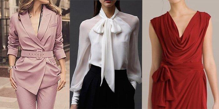انواع مدل یقه های لباس مجلسی زنانه و دخترانه (بررسی 12 مدل شیک )