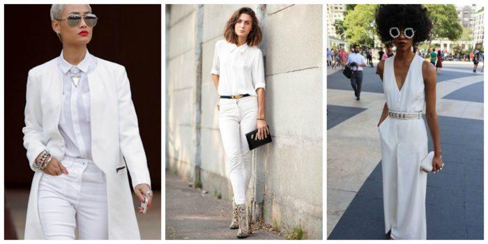 ست رنگ سفید (مانتو، شال، کفش و شلوار)