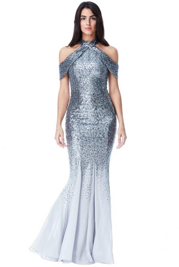 لباس مجلسی لمه مدل ماهی