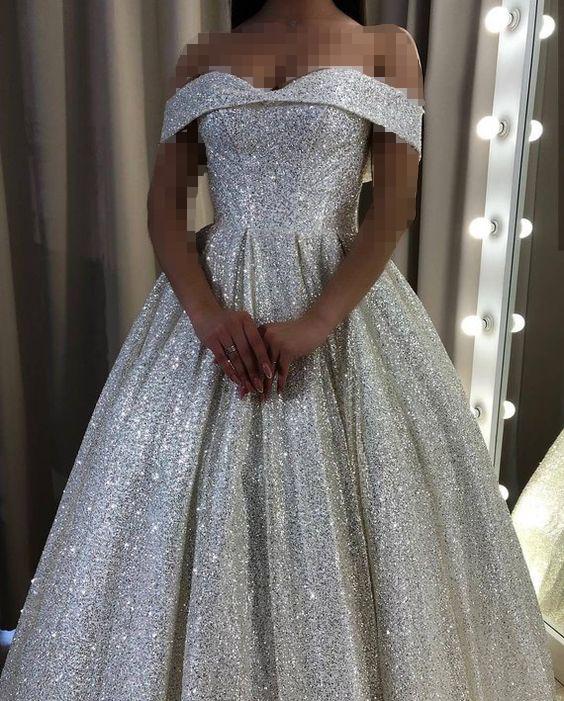 لباس عروس شاین یقه دلبری