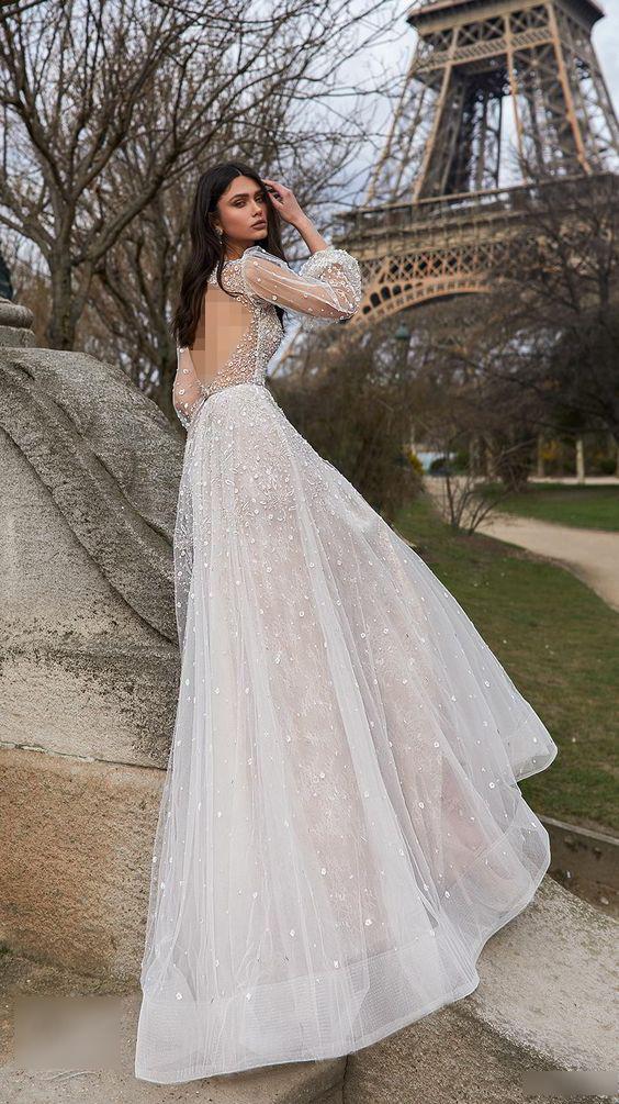 لباس عروس شاین آستین بلند