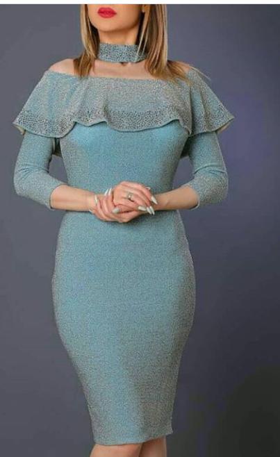 لباس مجلسی لمه آستین بلند