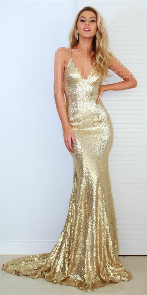 لباس عقد شاین طلایی