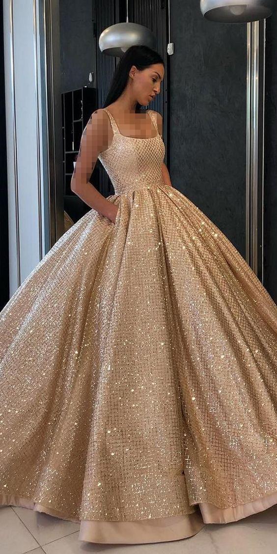 لباس عروس شاین طلایی